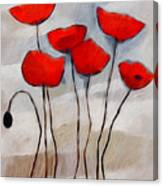 Poppies Painting Canvas Print