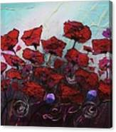 Poppies R Poppin' Canvas Print
