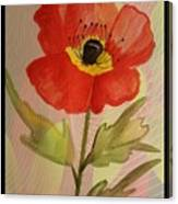 Poppy Art 17-01 Canvas Print
