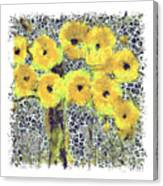 Poppy Bouquet I Pf Canvas Print