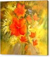 Poppy Bouquet  Canvas Print