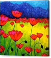 Poppy Cluster Canvas Print