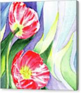 Poppy Couple Gentle Wind Canvas Print