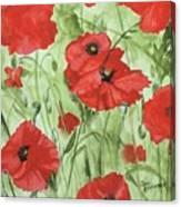 Poppy Field 1 Canvas Print