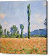 Poppy Field, Giverny Canvas Print