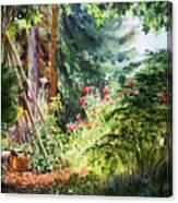 Poppy Garden Landscape Canvas Print