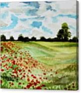 Poppy Meadow Canvas Print