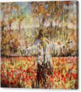 Poppy Scarecrow Canvas Print