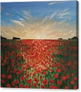 Poppy Sunset Canvas Print