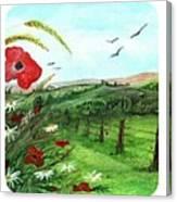 Poppy Tryptic Canvas Print