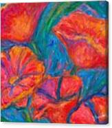 Poppy Twirl Canvas Print