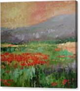 Poppyfield Canvas Print