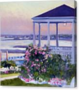 Porch At Sunet Canvas Print