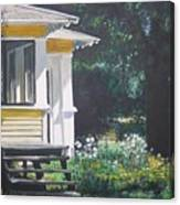 Porch By The Road Canvas Print
