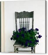 Porch Flowers Canvas Print