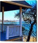 Porch View In Annisquam Canvas Print