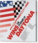 Porsche 24 Hours Of Daytona Wins Canvas Print
