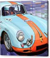 Porsche 356 Gulf Canvas Print
