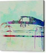 Porsche 356 Watercolor Canvas Print