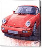 Porsche 911 Carrera 2 1990 Canvas Print