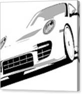 Porsche 911 Gt2 White Canvas Print