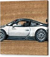 Porsche 911 Gt3r On Wood Canvas Print