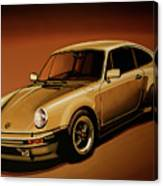 Porsche 911 Turbo 1976 Painting Canvas Print