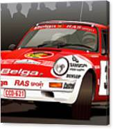 Porsche 911 Rally Illustration Canvas Print