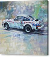Porsche 911 Sc  Rallye Sanremo 1981 Canvas Print
