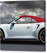 Porsche 911 Turbo S With Clouds Canvas Print