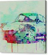 Porsche 911 Watercolor 2 Canvas Print