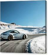 Porsche 911r Powerslide Canvas Print
