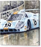 Porsche 917 Lh 24 Le Mans 1971 Rodriguez Oliver Canvas Print