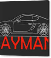 Porsche Cayman Phone Case Canvas Print
