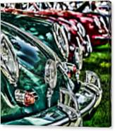Porsche Row Canvas Print