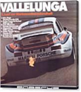 Porsche Vallelunga Vintage Racing Poster Canvas Print
