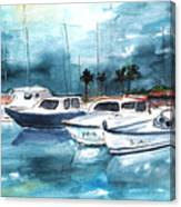 Port Alcudia Harbour 01 Canvas Print
