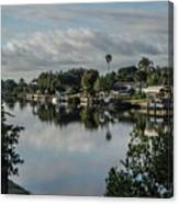 Port Charlotte Elkham Waterway From Tamiami Canvas Print