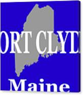Port Clyde Maine State City And Town Pride  Canvas Print