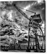 Port Crane Canvas Print