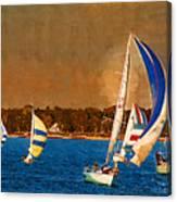 Port Huron Sailboat Race Canvas Print