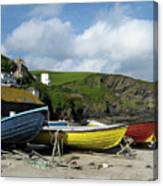 Port Isaac Boats Canvas Print