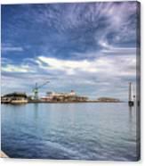 Port Melbourne Harbour Canvas Print