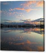 Port Of Anacortes Marina At Sunset Canvas Print