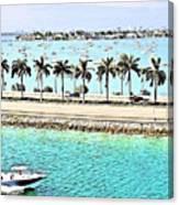 Port Of Miami - Miami, Florida Canvas Print