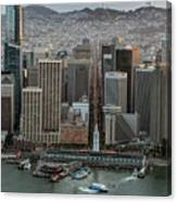 Port Of San Francisco And Downtown Financial District Canvas Print