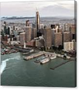 Port Of San Francisco And Downtown Financial Districtport Of San Francisco And Downtown Financial Di Canvas Print
