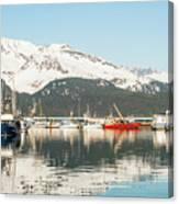 Port Of Seward Alaska  Canvas Print