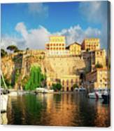 Port Of Sorrento, Southern Italy Canvas Print