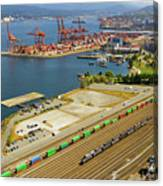 Port Of Vancouver Bc Canvas Print